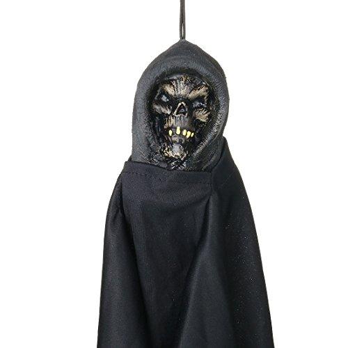 Halloween Hanging Reaper Skeleton,Animated Halloween Prop Haunted House Yard Scary (Animated Halloween Decor)