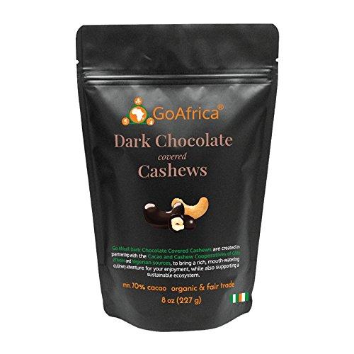 Go Africa Dark Chocolate Covered Cashews, 8oz