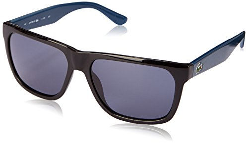 Lacoste L732S Wayfarer Sunglasses, Black/Blue, 56 -