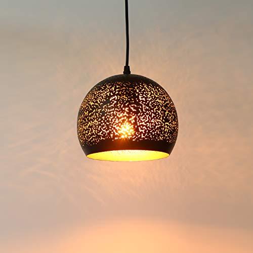 Bjour Contemporary Pendant Light Industrial Traditional Metal Pierced Lighting Fixture Indoor Hollow Shade Design for Kitchen Island