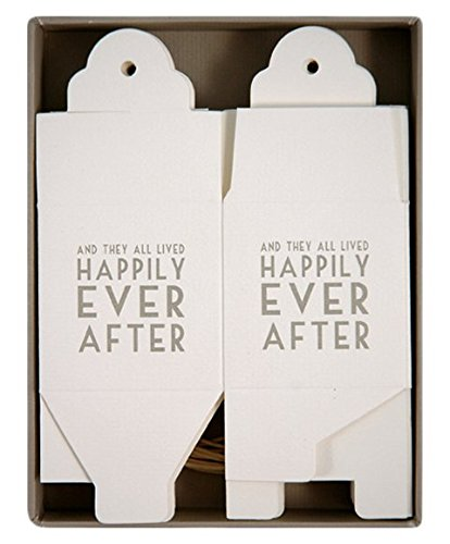 Happily Ever After Set of 8 Square Wedding Favor Boxes - Paper