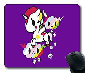 """Cute Rainbow Standard Mouse Pad Oblong Design Mousepad in 220mm*180mm*3mm (9""""*7"""") -102144"""