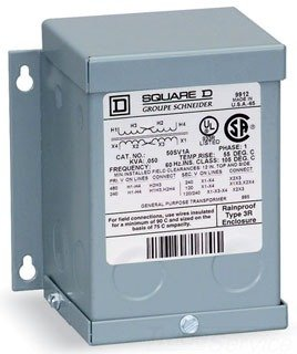 Schneider Electric / Square D 250SV46B Buck-Boost Dry Transformer 120/240 Volt Primary 16/32 Volt Secondary 0.25 KVA 4-wire 1 (Square D Transformer)