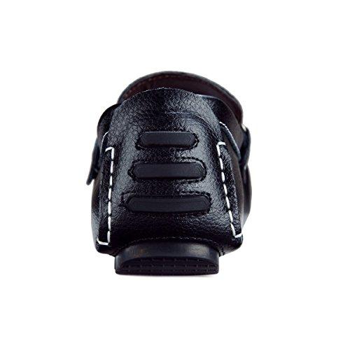 Loafers Zapatos Casual EU 45 Negro Hombre de Mocasines Calzado Plano Comodidad CCZZ 37 Cuero Conducción wSxqXZOtB
