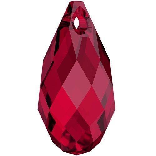 6010 Swarovski Pendant Briolette Scarlet | 11mm - Pack of 1 | Small & Wholesale Packs | Free Delivery Heart Briolette Pendant