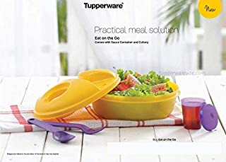 Tupperware Salad-to-Go Lunch Set, Bowl, Utensils, Dressing Container, yellow (B004G1CVJW) | Amazon price tracker / tracking, Amazon price history charts, Amazon price watches, Amazon price drop alerts
