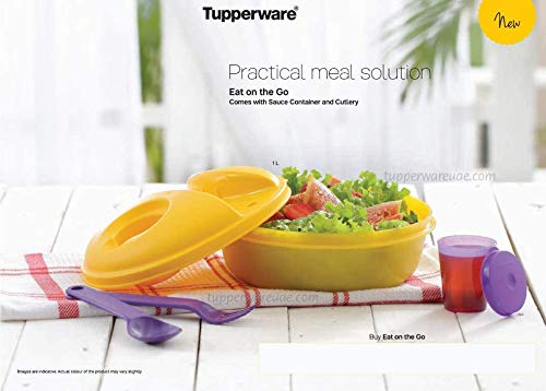 Tupperware Salad-to-Go Lunch Set, Bowl, Utensils, Dressing Container, Pink