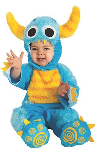 Rubie's Cuddly Jungle Mr. Monster Romper Costume, Aqua, 12-18 Months]()