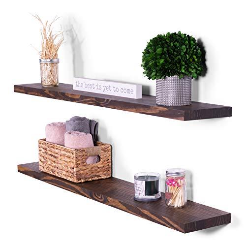 48 inch espresso wall shelf - 8
