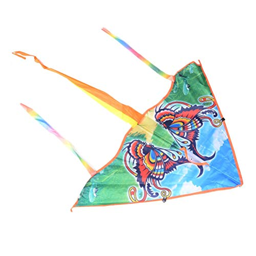 (Delta Kite - 80cm Traditional Butterfly Kite Easy To Fly Colorful Animal Styles Foldable Outdoor Fun Sports - Kites Girl Accessories Kits American Kites Accessories Kite Line Delta Stunt A)