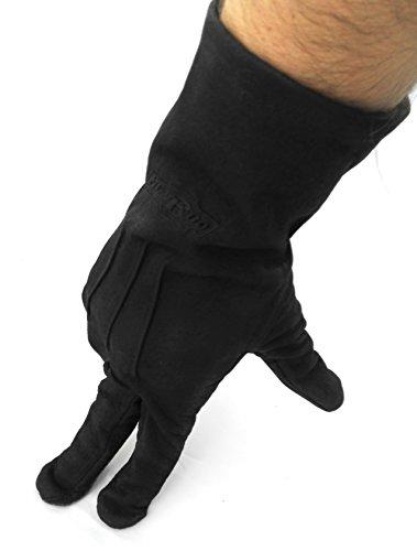 Zerimar Guanti da moto | in pelle 100% natural | Duro Comodo Flessible Marrone