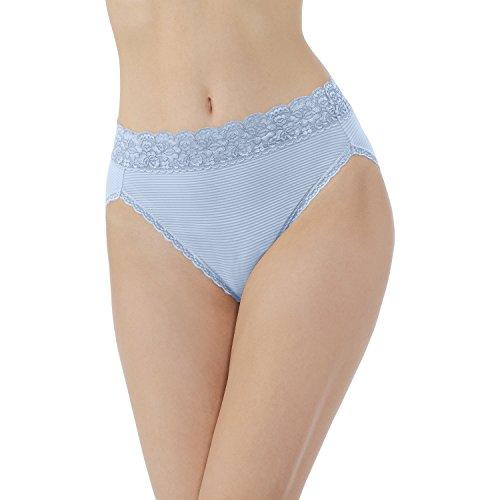 Hi Leg Panty - Vanity Fair Women's Flattering Lace Hi Cut Panty 13280, Dewdrop, Large/7