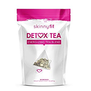 SkinnyFit Detox: Accelerate fat loss, fight bloating, release toxins. All Natural, laxative-free, powerful superfood weight loss tea - 1 month supply (28 tea bags)