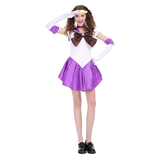 Angelaicos Womens Color Block Bowknots Costume Dress (M,