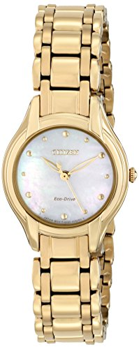 Citizen Eco-Drive Women's EM0282-56D Silhouette Analog Display Gold Watch (56d Watch)