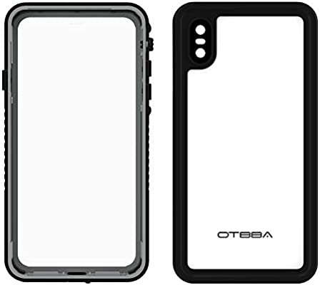 Otbba Iphone Xs Max Waterproof Case Protective Ip68 Certified Full Sealed Underwater Cover Rugged Dustproof Snowproof Shockproof Waterproof Phone