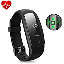 Fitness Tracker HR, DBPOWER Activity Tracker with Heart Rate Monitor, Fitness Health IP67 Waterproof Smart Bracelet with Step Tracker Sleep Monitor Calorie Counter Pedometer Watch for Android and IOS