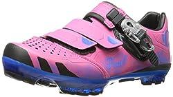 Pearl Izumi - Ride Women's W X-project 2.0 Cycling Shoe,Pink/Dazzling Blue,36.5 EU/5.5 D US