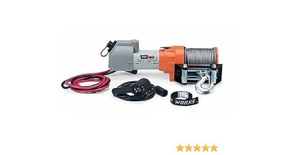 amazon com: warn 603700 warn works 3700 dc 1 9-horsepower utility winch -  3,700-pound capacity: automotive