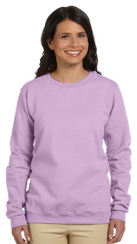 Gildan G180FL Ladies Heavy Blend Fleece Crew - Orchid - L