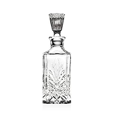 Crystal Whiskey Decanter with Tall Stopper Dublin Collection