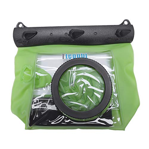 (SODIAL SLR Camera Waterproof Case 5D3 for 6D 5D2 700D for Underwater Camera Housing Case Diving Waterproof Dry Bag-Green)