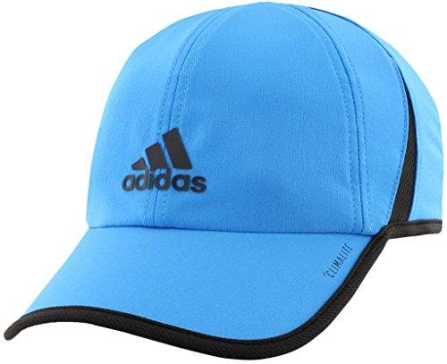 (adidas Men's Superlite Relaxed Adjustable Performance Cap, Bright Blue/Black, One)