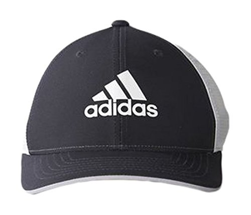 Adidas Golf 2016 Light Climacool Flex-Fit Hat Structured Mens Performance Golf Cap Black/White Small/Medium