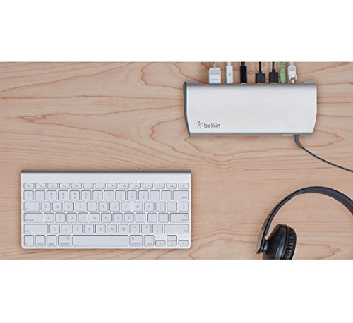 Belkin Thunderbolt 3 Express Dock HD with 3.3-Foot Thunderbolt 3 Cable, 40 Gbps, Only Compatible with 2016 MacBook Pro by Belkin (Image #3)
