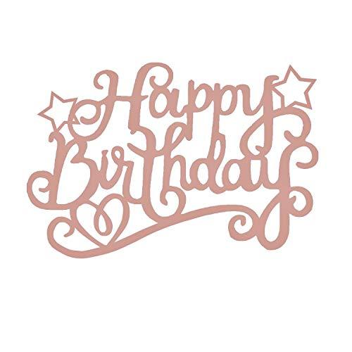 7 Pack Glittery Rose Gold Happy Birthday Cake Topper, Bling 1st First 11th 13th 16th 21st 30th 40th 50th 60th 70th 80th 90th 100th Birthday Cupcake Decoration