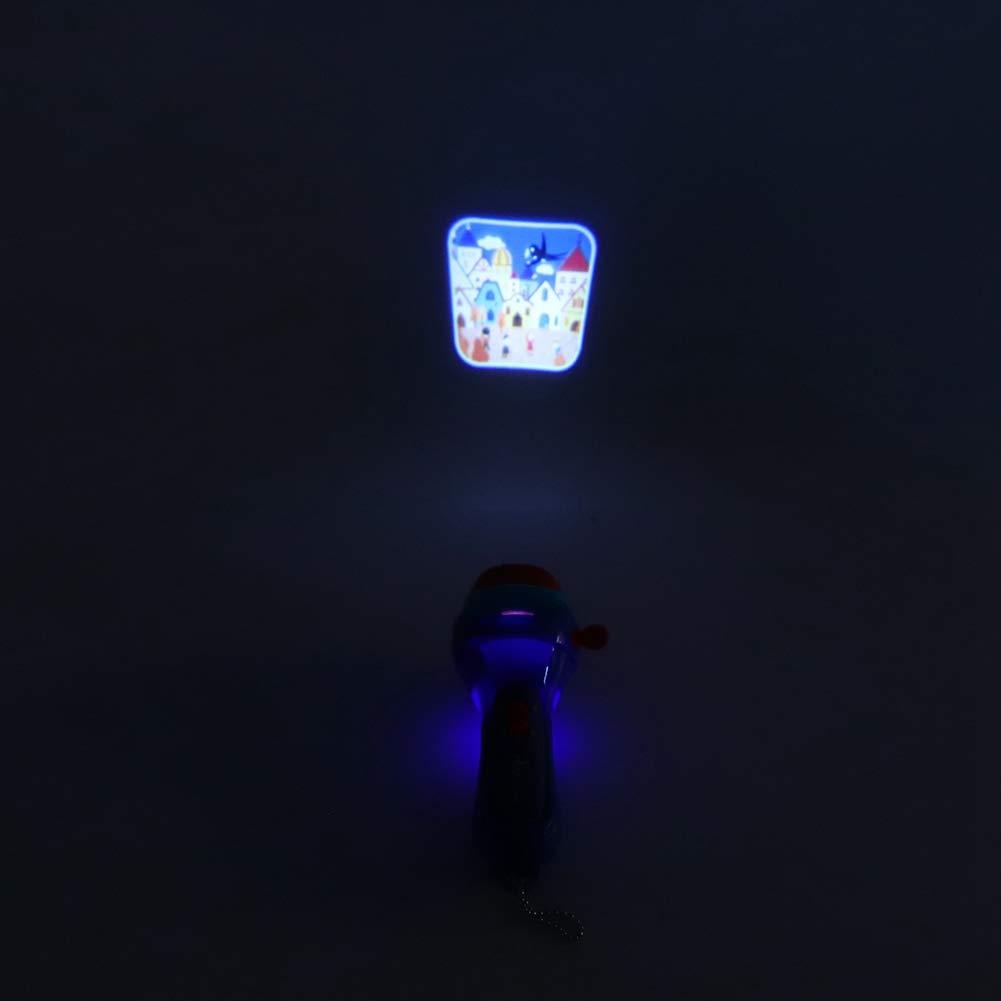 Historias de Sue/ño para Ni/ños Mini Historia de Dormir Cuento Linterna Antorcha de Proyector Port/átil Beb/é Luz de Noche Luces de Proyector Antorcha de Proyecci/ón de Historia