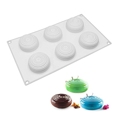 Swirl Chocolate Mold - Cake Molds, Silicone Mousse Molds for Brownie Chocolate Truffle Pudding Desserts, Nonstick, Food Grade Silicone (3D Drop Swirl)