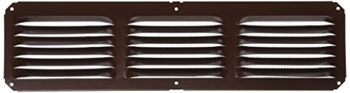 Lomanco C416BR 16-Inch X 4-Inch Brown Undereave Vent