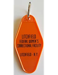 Orange Is the New Black Litchfield Correctional Facility Inspired Key Tag in Orange and Black