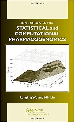 Statistical and Computational Pharmacogenomics (Chapman &