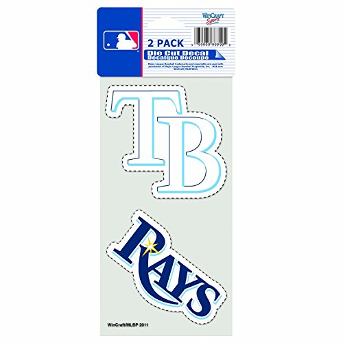 Tampa Wincraft Bay (WinCraft MLB Tampa Bay Devil Rays 4-by-8 Die Cut Decal)