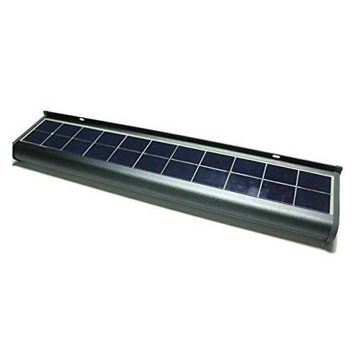 eLEDing Solar Powered Lights 48 LED Wall Light Outdoor Weatherproof Wireless Billboard Advertisement Sign Security Light for Patio Back Door Building Bus Stop (Clip Lights On Solar Powered)