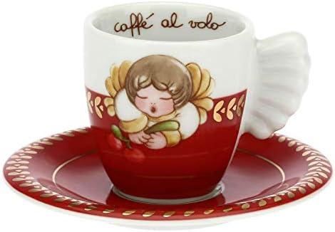 THUN – Tazzina da caffè con Decorazioni Natalizie – Accessori Cucina – Linea Dolce Natale – Porcellana – 100 ml