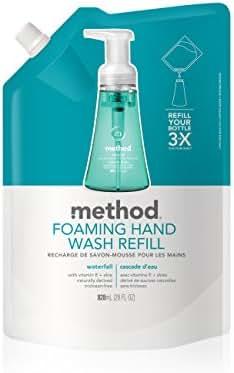Method Foaming Hand Soap, Refill, Waterfall, 28 Fl. Oz (Pack of 1)