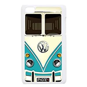 DIY Vw Minibus Teal Hard Plastic Back Protective Case for Ipod Touch 4 TP-1