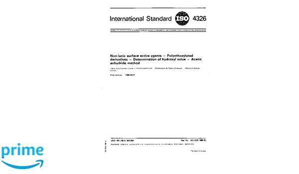 ISO 4326:1980, Non-ionic surface active agents