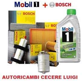 Kit de Cambio de Aceite Mobil 3 LT 5W30 + 4 filtros Bosch Smart ...