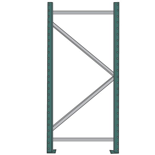 Interlake Interrack-30 Pallet Rack Upright Frame - 42X192'' - 30,600-Lb. Maximum Capacity by Interrack-30