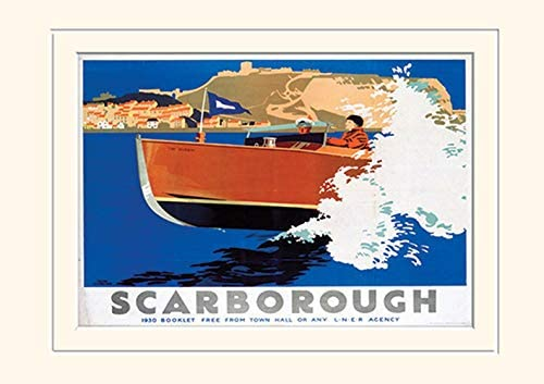 Multi-Colour Paper Pyramid International Scarborough Mounted Print Memorabilia 7 30 x 40 x 1.3 cm