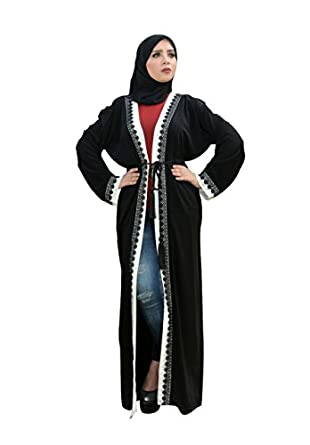 Muslim Women's Prayer Dress Pure Egyptian Cotton Abaya Set Islamic Isdal (rania)