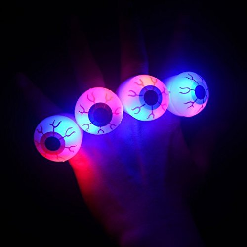 Katoot 12PCS Halloween Flash Light Eyeball Ring Kid Party Favor Supply Bag Prop Gift -