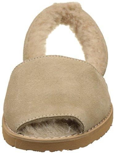 Para Sandalias De Mujer Tobillo Minorquines Con Correa Avarca taupe Taupe Marrón Mouton Taupe tYqq8Ow