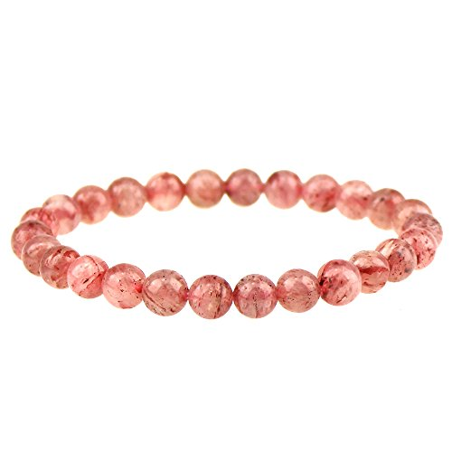 CLEARAIN Beautiful Energy Power Crystal 8mm Chakra Beads Reiki Healing Elastic Stretch Bracelet