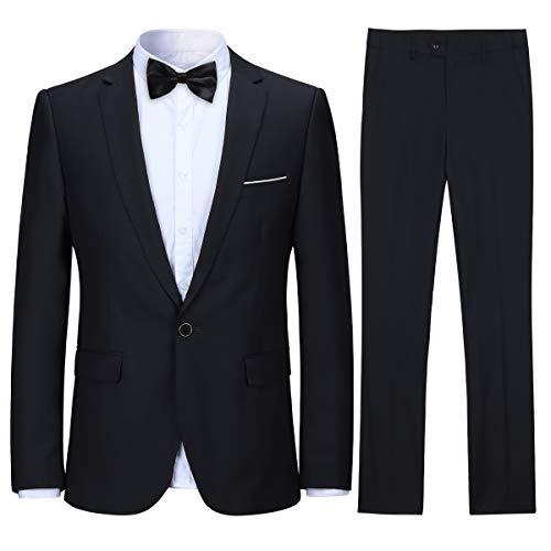 Men's Vintage 3 Piece Tweed Suits Slim Fit One Button Plaid Wedding Prom Party