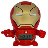 Bulb Botz Marvel 2021432 Iron Man Kids Night Light Alarm Clock with Characterised Sound | red/gold | plastic | 5.5 inches tall | LCD display | boy girl | official